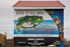 Fort Frances Canadian Bass Championship - photo of sign