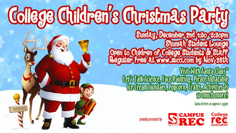 College Children S Christmas Party Register Today Confederation College