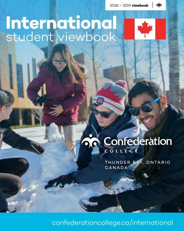 Confederation College - International Student Viewbook - 2018-19