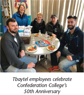 Tbaytel employees celebrate Confederation College's 50th Anniversary