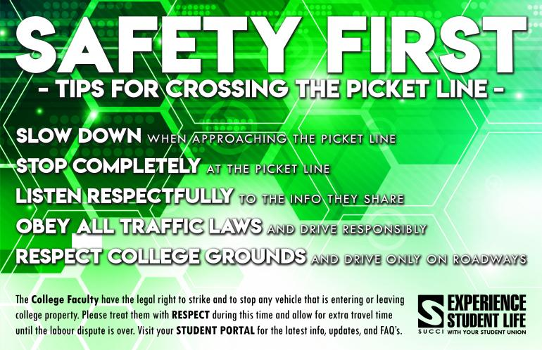 Safety First - Crossing the Picket Line