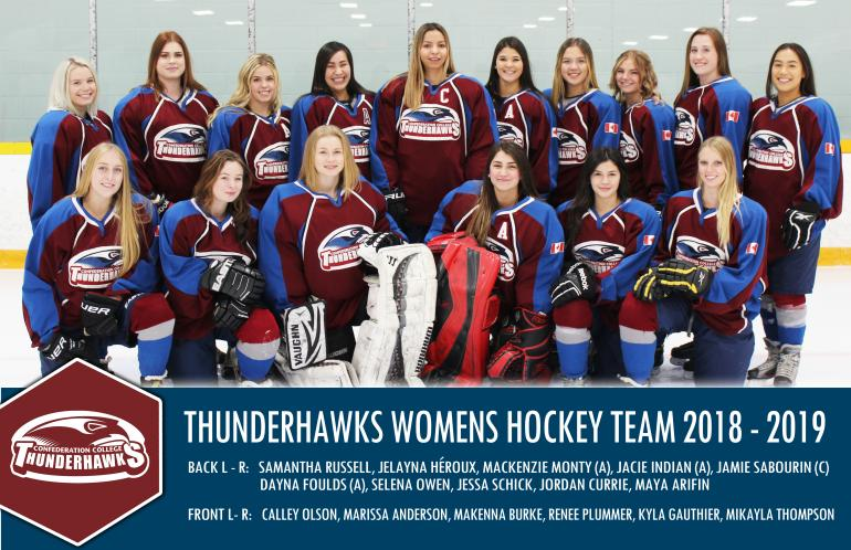 Thunderhawks Women's Hockey team