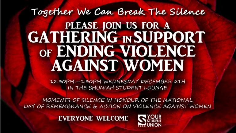 National Day of Remembrance & Action on Violence Against Women Promo Image