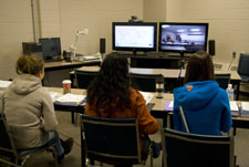 Online class via two-way video conference photo