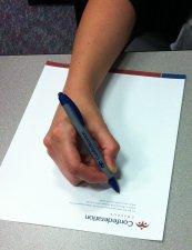 photo of handwriting