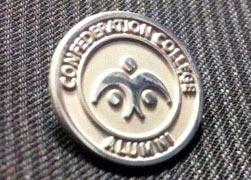 photo of alumni pin