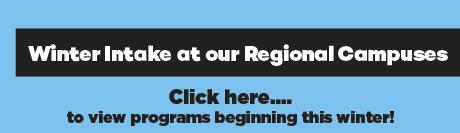 Winter Intake regional campuses