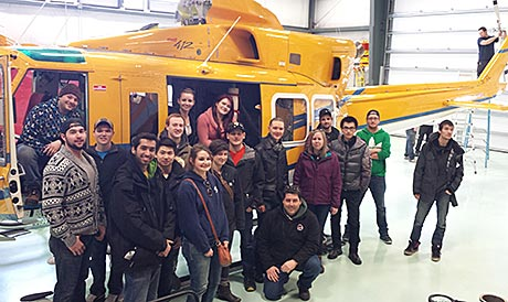 Wisk Air Helicopters tour - group photo - high angle