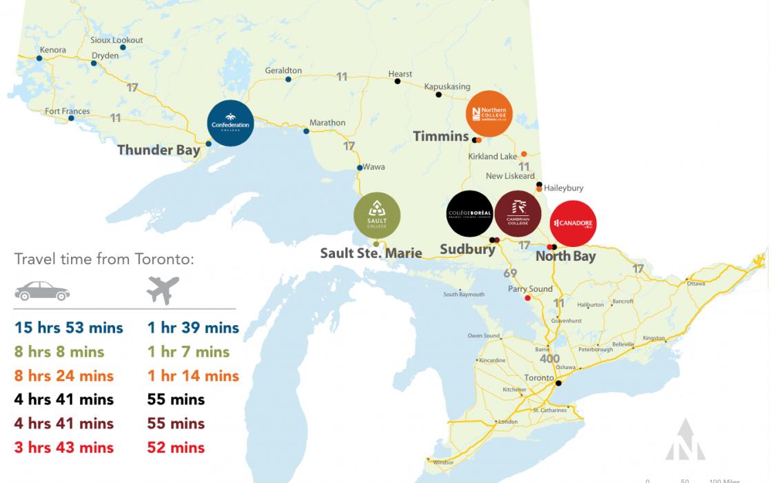 Study North map
