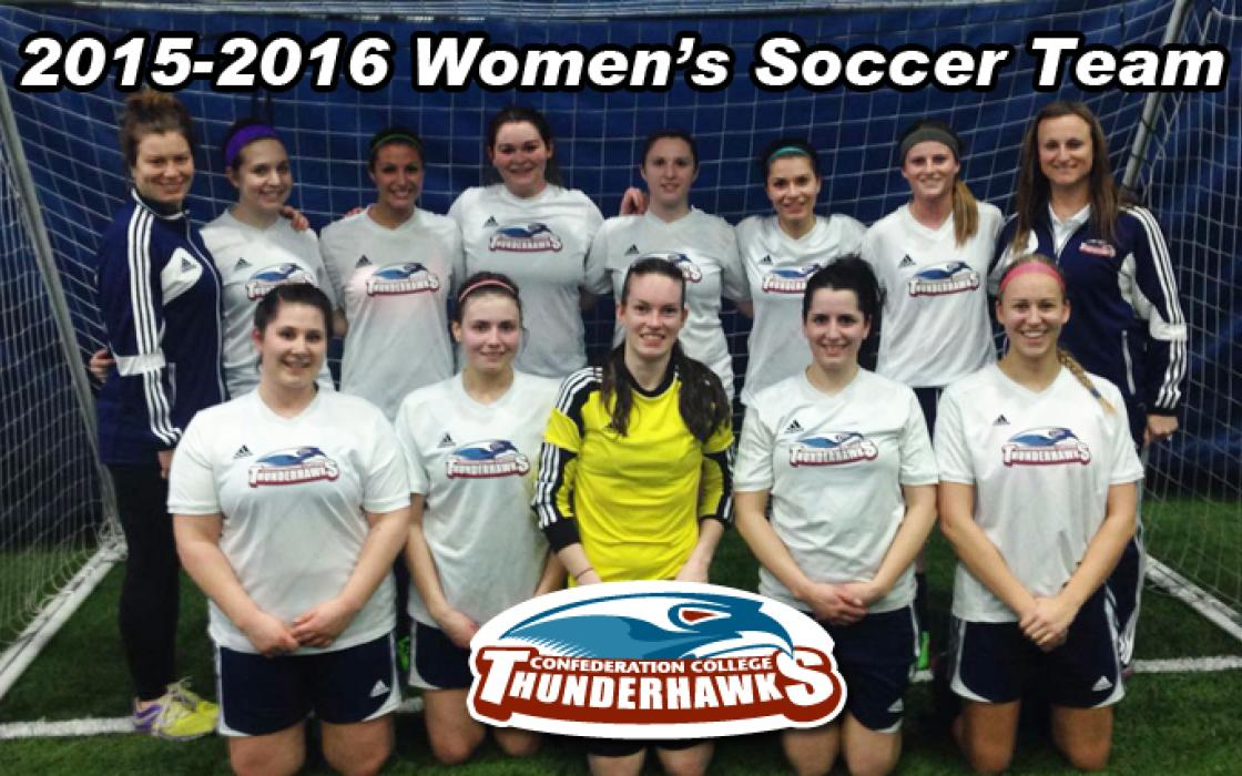 Photo of the 2015-16 Womens Indoor Soccer Team