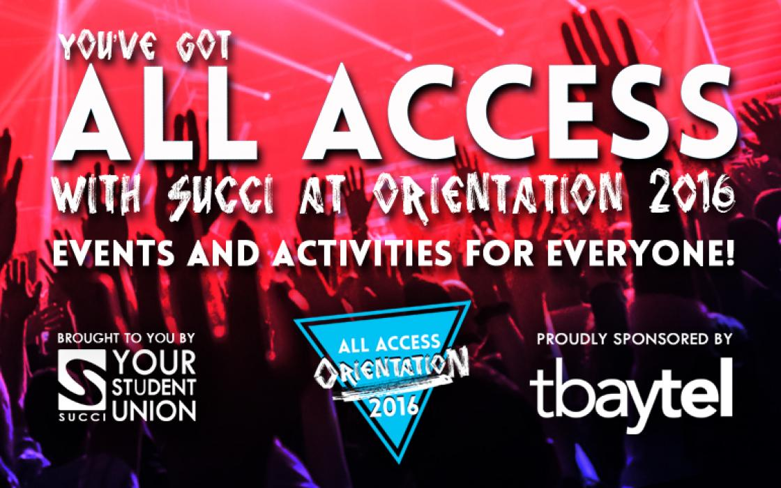 All Access Orientation event poster