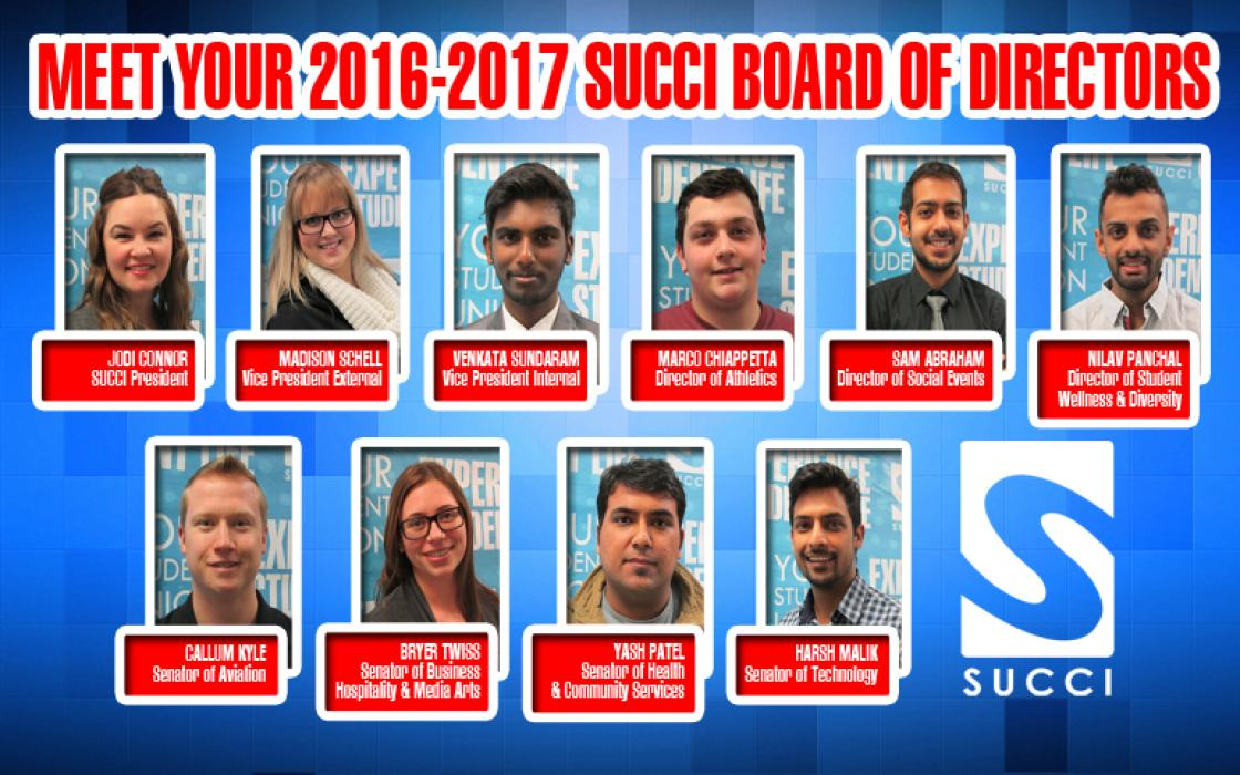Meet your 2016-2017 SUCCI Board of Directors Image