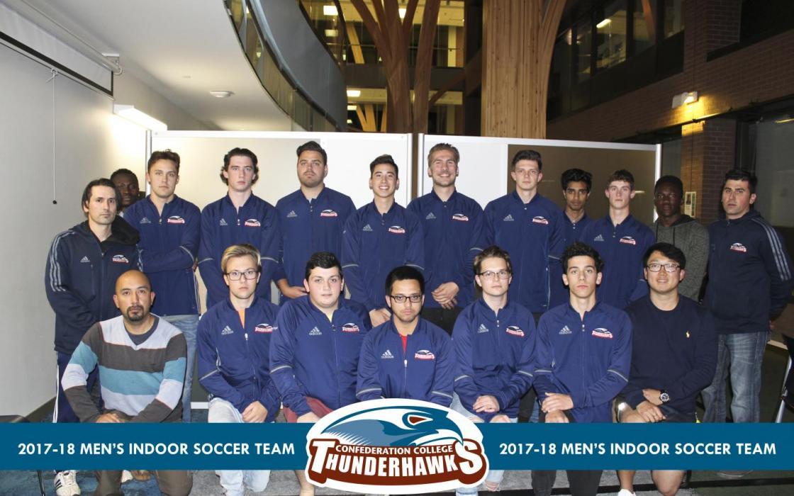 2017-18 Men's Indoor Soccer Team Photo