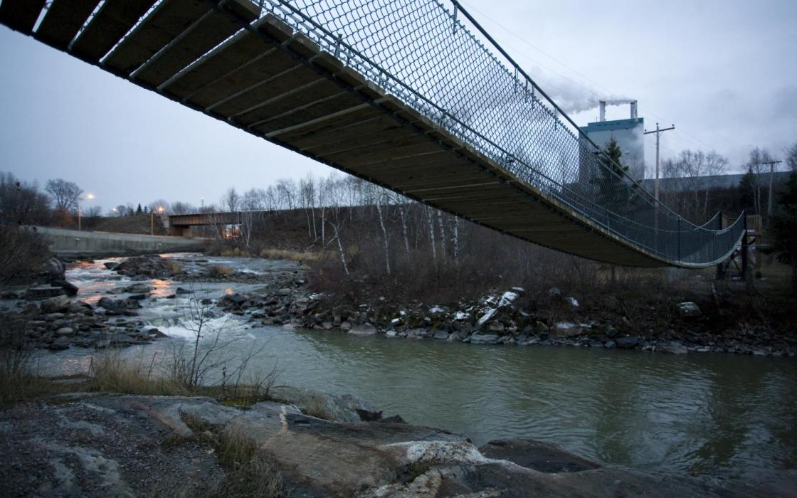 Suspension Bridge in Dryden