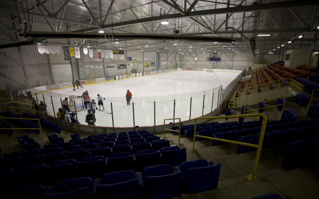 Minor hockey is huge in Fort Frances in the modern Memorial Sports Centre