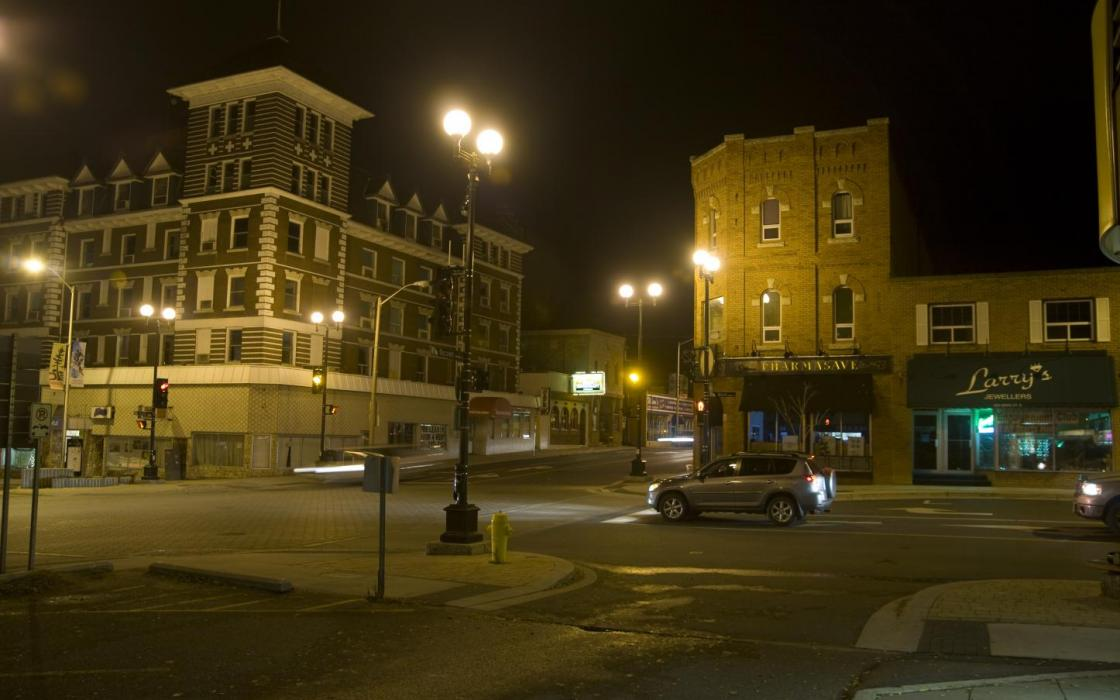 Kenora Downtown at night