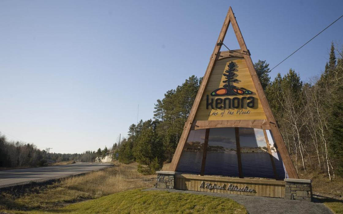 Kenora road sign