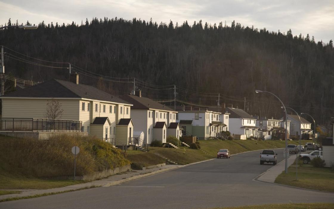 Marathon old town down close to Lake Superior