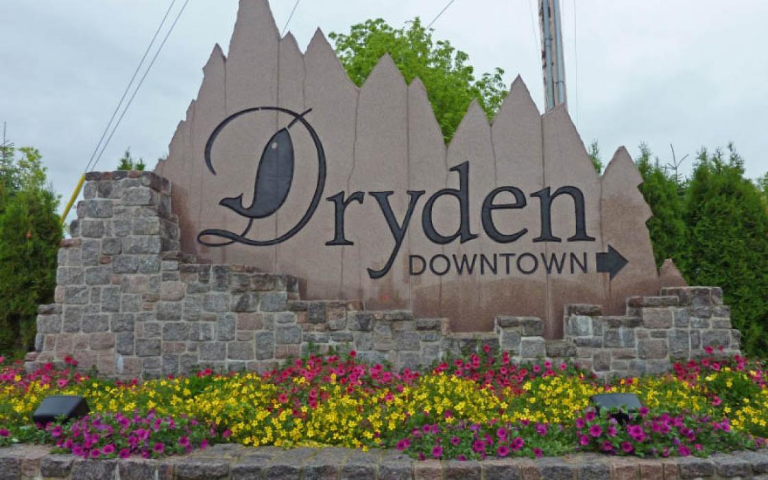 Dryden Downtown sign