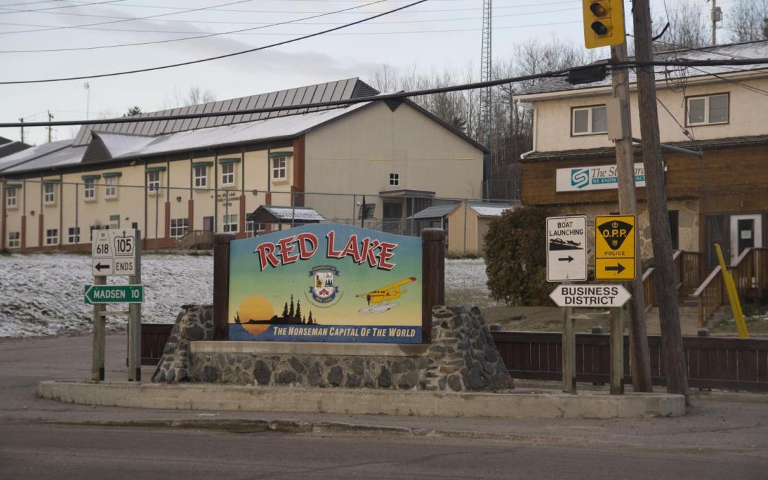 Main street corner in Red Lake