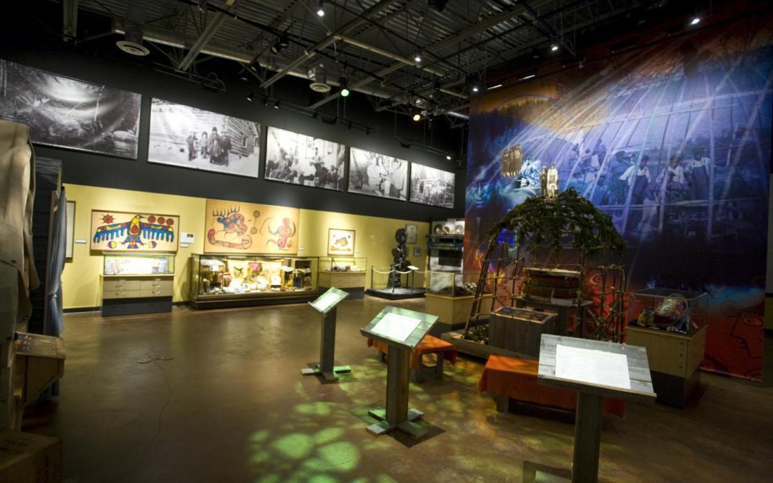 Aboriginal display inside Heritage Centre Museum in Red Lake