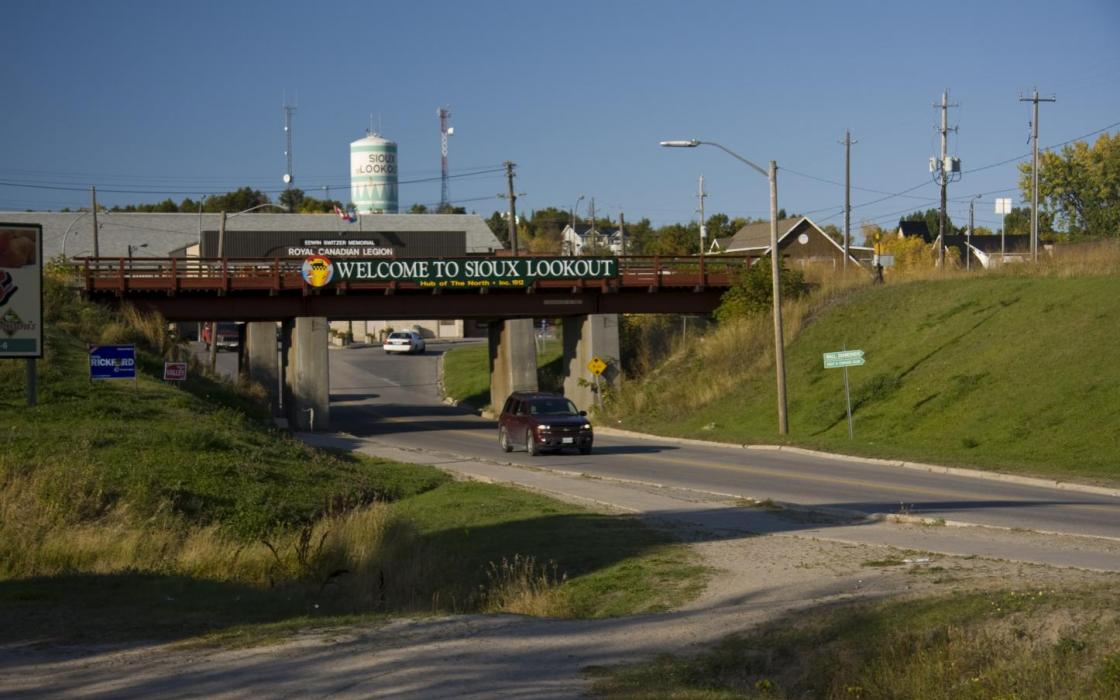 Entrance to Sioux Lookout