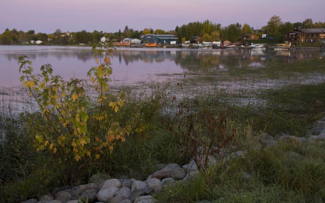 Early morning by the lake in Sioux Lookout