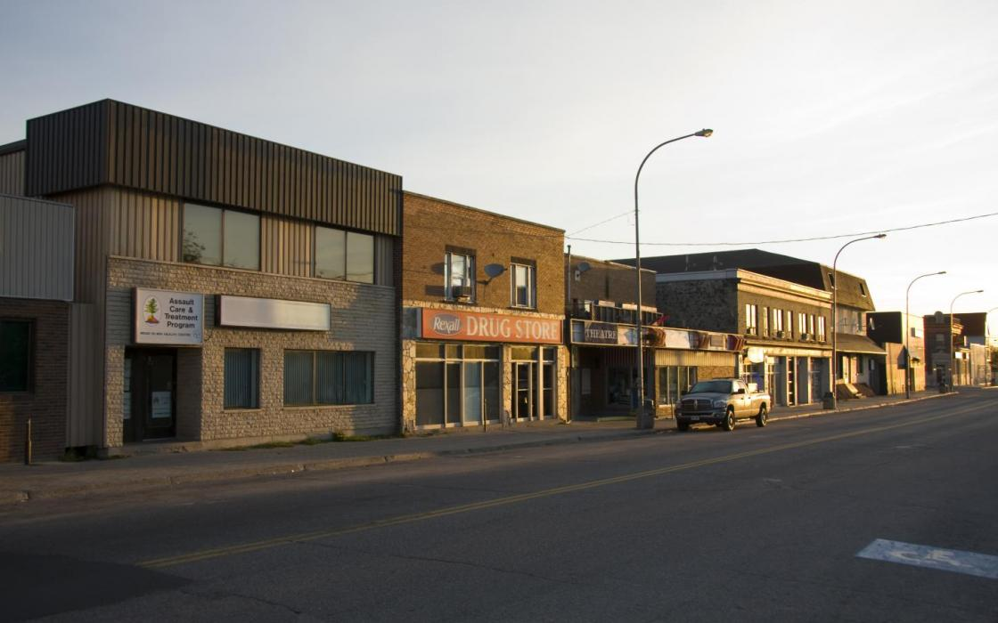 Downtown in Sioux Lookout