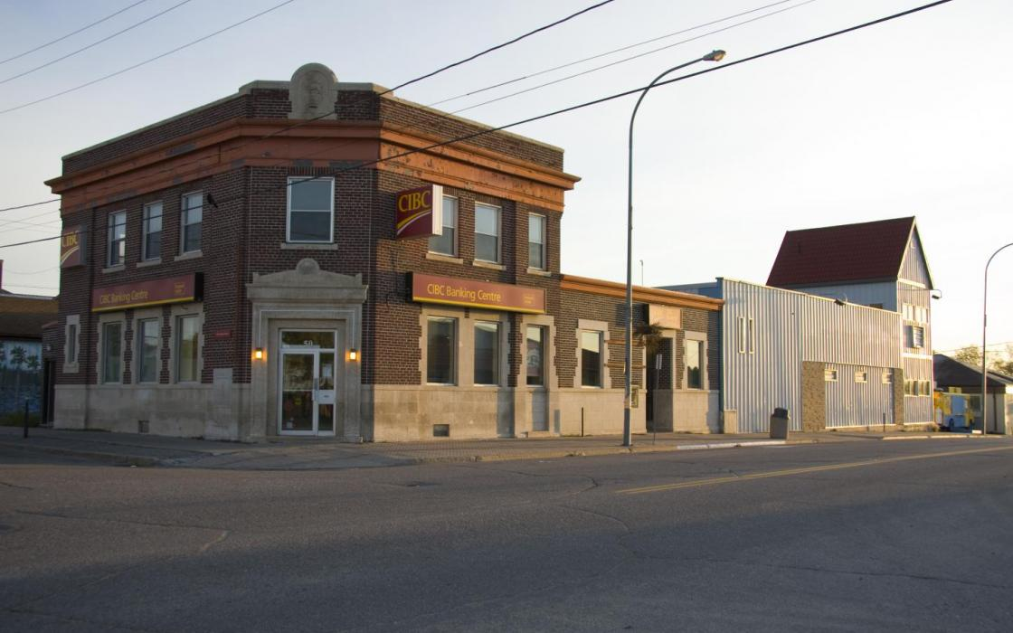 Street corner in Sioux Lookout