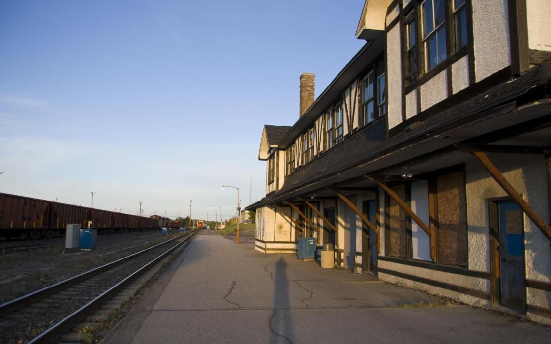 Railway station in Sioux Lookout