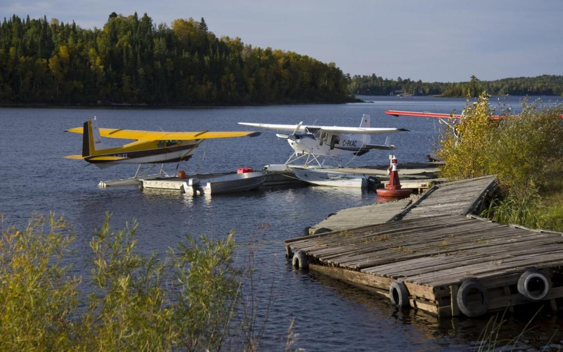 Float planes are common at Sioux Lookout