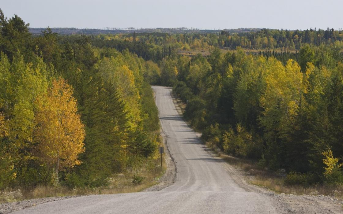 Gravel road near Sioux Lookout
