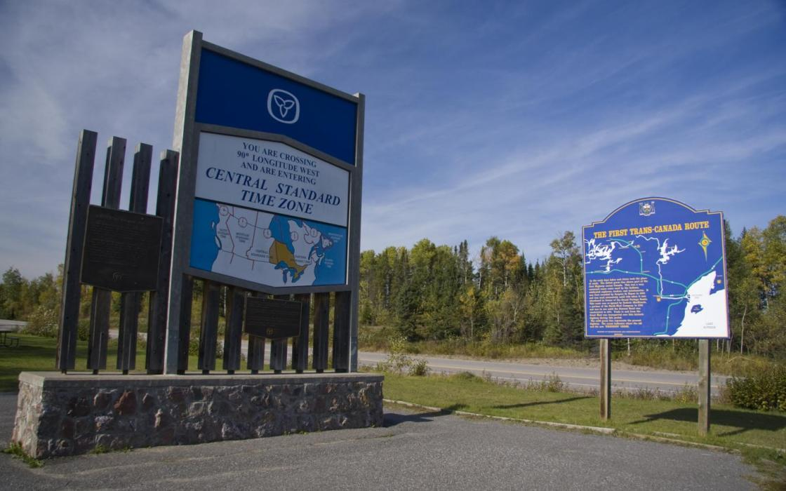Dividing line between Central Time & Eastern Time