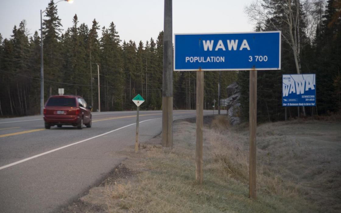 Highway sign - Wawa