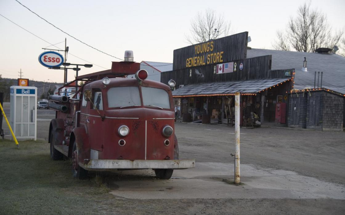 Old Fire Truck at Young's General Store - Wawa