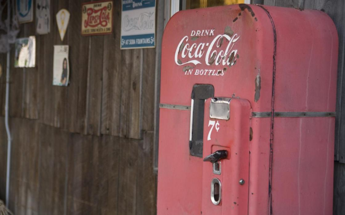 Old Coke machine at Young's General Store - Wawa