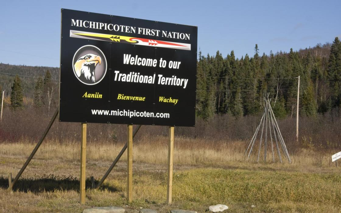 Welcome to Michipicoten First Nation sign