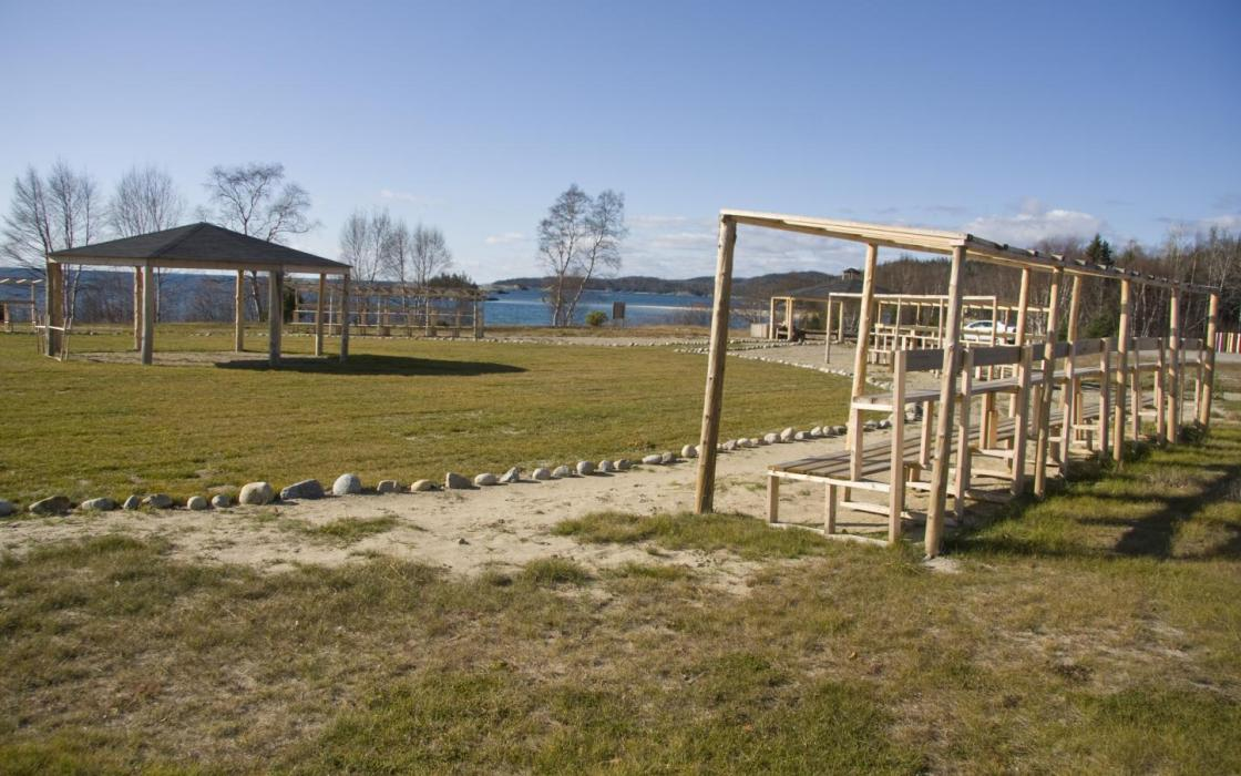 A gathering place in Michipicoten First Nation