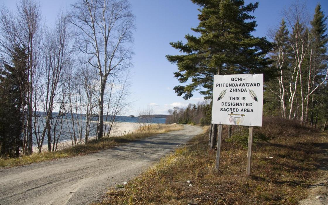 Sacred area in Michipicoten First Nation