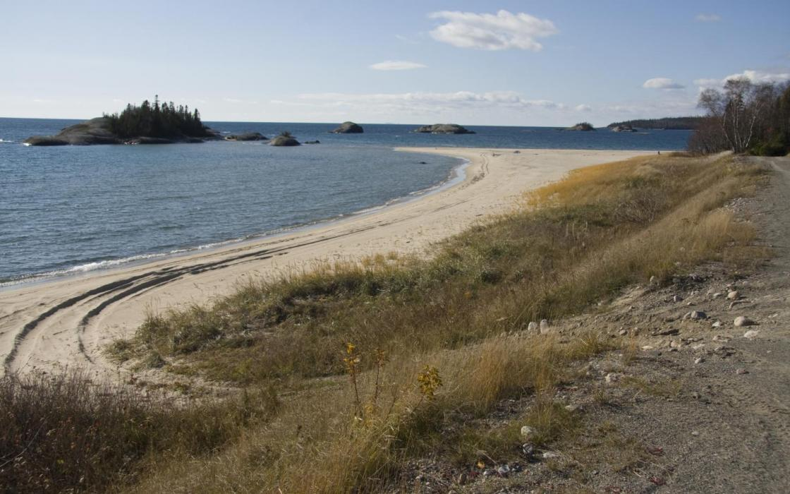 Beach area in Michipicoten First Nation
