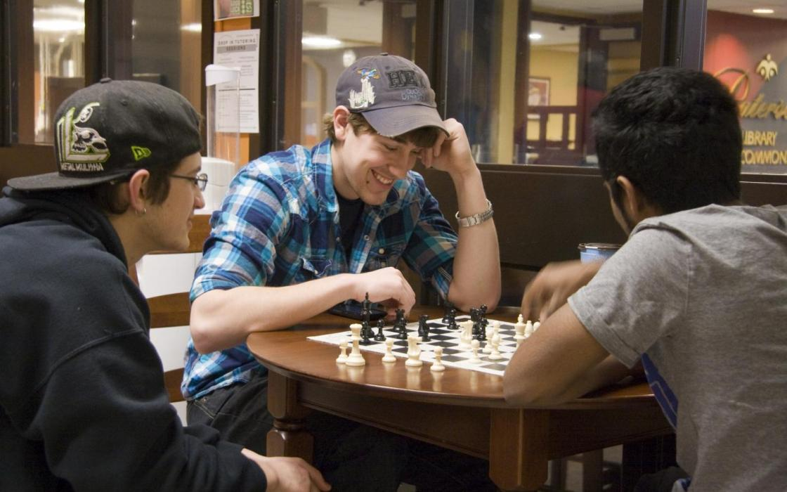 photo - playing chess in APIWIN