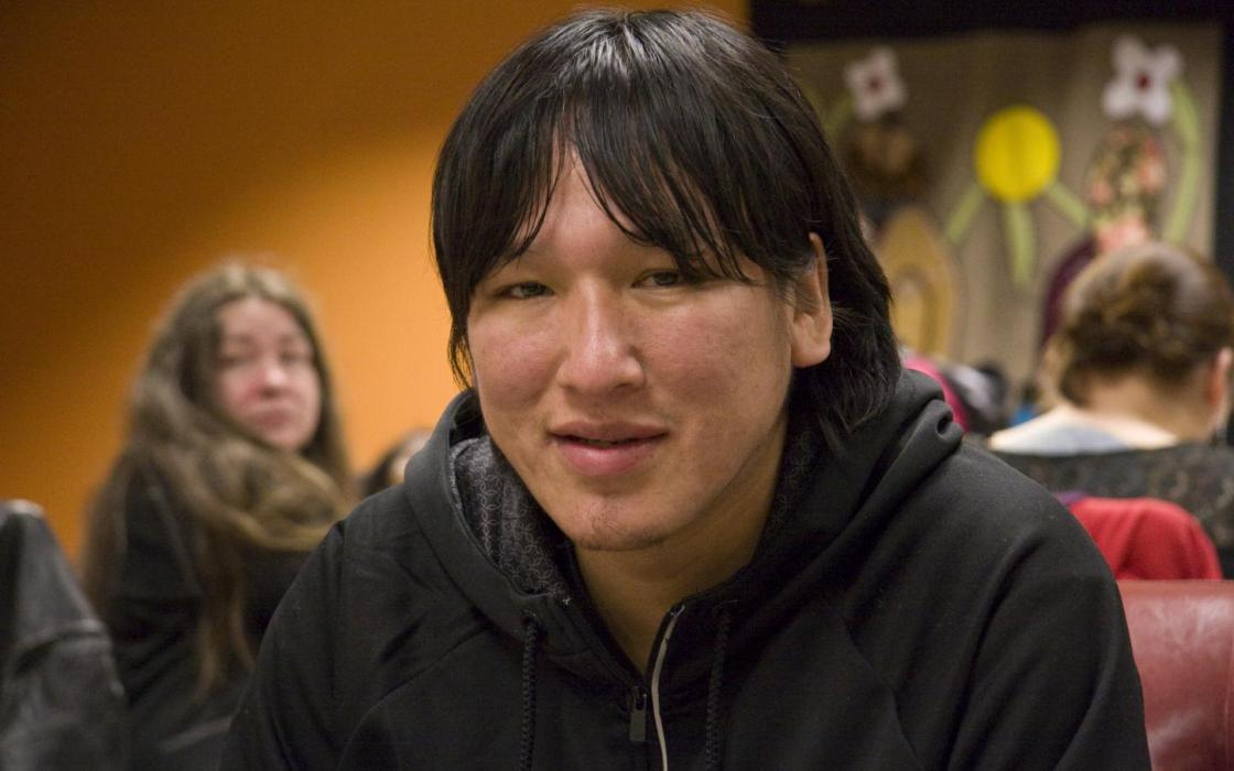photo - male Indigenous student