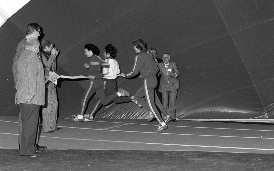 1975 Ceremonial Jog Around the Track (Fitness Centre-Bubble)