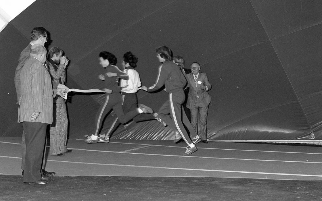 1975 Ceremonial Jog Around the Track (Fitness Centre-Bubble)