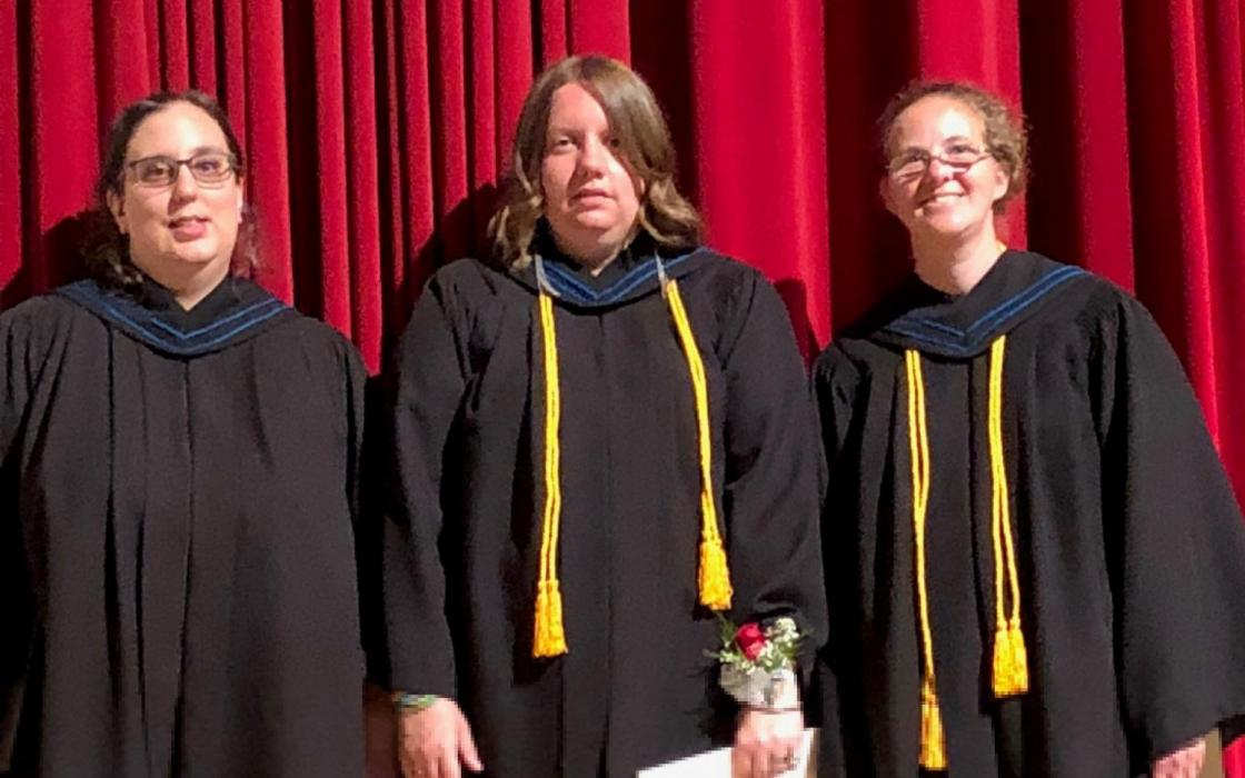 CICE graduates (l-r) Pricilla Remillard, Brandy-Lynn Croom and Rebecca Wurch