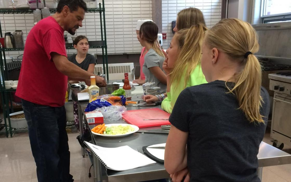 Instructor Kelly Connors at the 2017 Culinary Camp