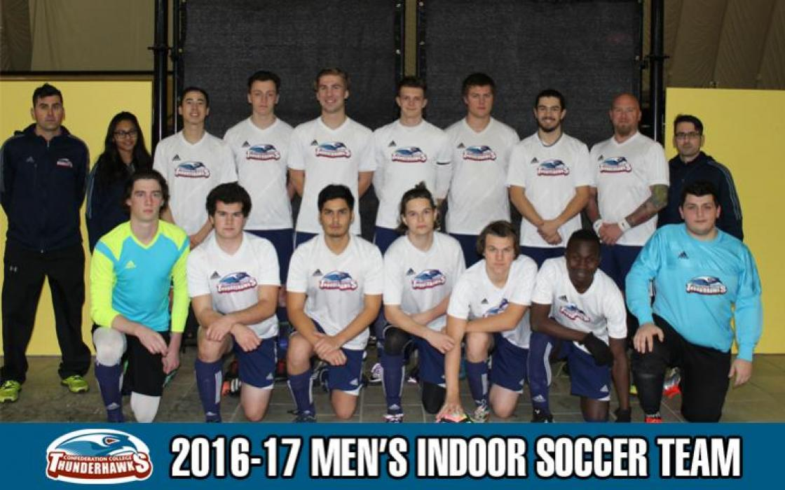 2016-17 Men's Indoor Soccer Team Photo