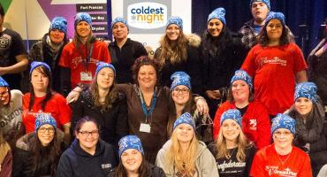 Photo - Child and Youth Care students volunteer at Coldest Night of the Year walk fundraiser