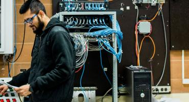 photo - Instrumentation student working on a project in one of our instrumentation labs