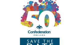 50th anniversary save the date email signature confederation college